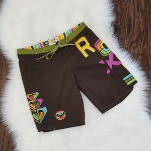 Roxy | Board Short Surf Wear Spell Out Brown 0